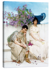 Canvas print  An Eloquent Silence - Lawrence Alma-Tadema