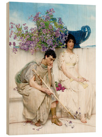 Wood print  An Eloquent Silence - Lawrence Alma-Tadema