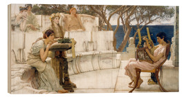 Wood  Sappho and Alcaeus - Lawrence Alma-Tadema