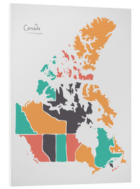 Foam board print  Canada map modern abstract with round shapes - Ingo Menhard