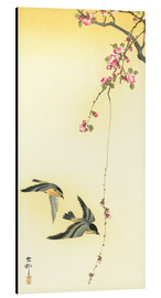 Alu-Dibond  Starlings and Cherry Tree - Ohara Koson