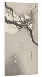 Foam board print  Plum Blossoms at Night - Ohara Koson