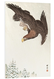 Foam board print  Eagle in Flight - Ohara Koson