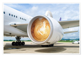 Poster  Latte Departure - James Popsys