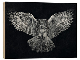 Wood print  Owl 1 - Christian Klute