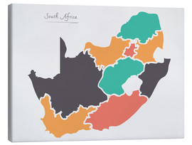Canvas print  South Africa map modern abstract with round shapes - Ingo Menhard