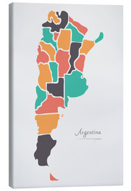 Canvas print  Argentina map modern abstract with round shapes - Ingo Menhard