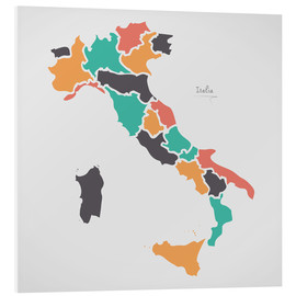 Forex  Italy map modern abstract with round shapes - Ingo Menhard