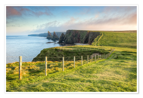 Premium poster Duncansby Stacks Scotland