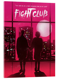 Acrylic glass  Fight club movie scene art print - 2ToastDesign