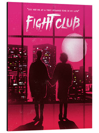 Alu-Dibond  Fight club movie scene art print - 2ToastDesign