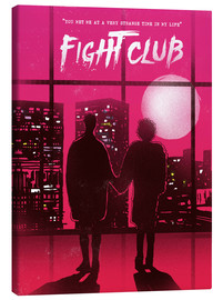 Canvas print  Fight Club movie scene art print - 2ToastDesign