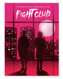 Premium poster  Fight Club movie scene art print - 2ToastDesign