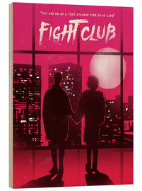 Wood print  Fight Club movie scene art print - 2ToastDesign