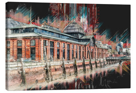Canvas print  Fish market in Hamburg - Peter Roder