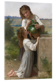 Acrylic glass  At The Fountain - William Adolphe Bouguereau