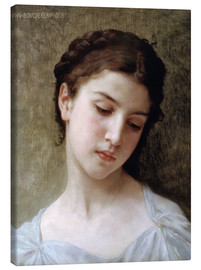 Canvas  Portrait of a young girl - William Adolphe Bouguereau