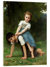 Acrylic glass  Piggyback - William Adolphe Bouguereau