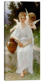 Canvas  Whisperings of Love - William Adolphe Bouguereau
