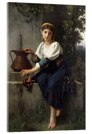 Acrylic print  Young Girl at the Well - Elizabeth Jane Gardner Bouguereau