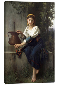 Canvas  Young Girl at the Well - Elizabeth Jane Gardner Bouguereau