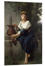 Foam board print  Young Girl at the Well - Elizabeth Jane Gardner Bouguereau