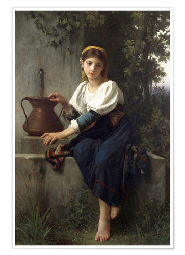 Premium poster Young Girl at the Well
