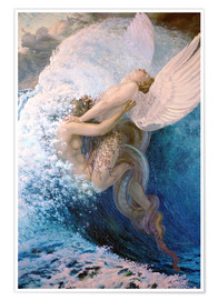 Poster  Spleen and Ideal - Carlos Schwabe