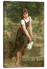 Canvas print  At the fountain - Emile Munier
