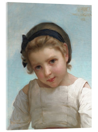Acrylic print  Portrait of a Young Girl - Emile Munier