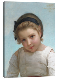 Canvas print  Portrait of a Young Girl - Emile Munier