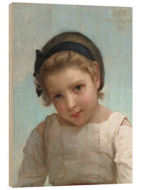 Wood  Portrait of a Young Girl - Emile Munier