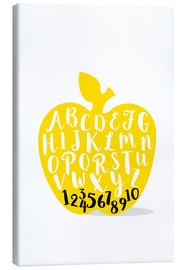 Canvas print  ABC apple yellow - Ohkimiko