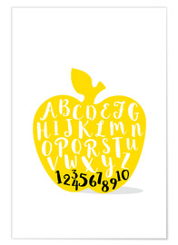 Premium poster  ABC apple yellow - Ohkimiko