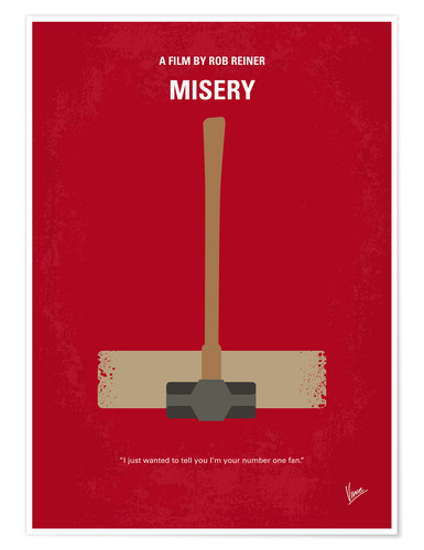 Premium poster No814 My Misery minimal movie poster