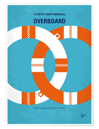 Premium poster No815 My Overboard minimal movie poster