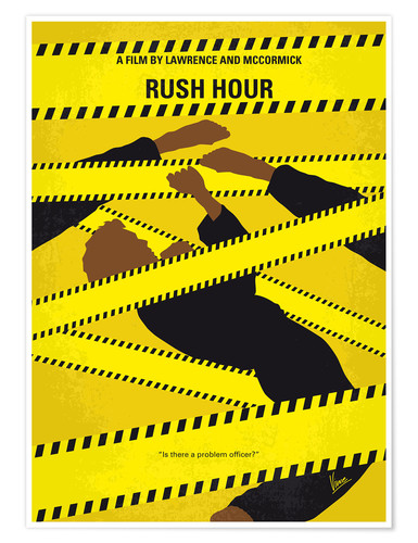 Premium poster No816 My Rush Hour minimal movie poster