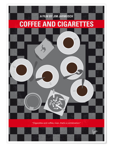 Premium poster No808 My Coffee and Cigarettes minimal movie poster