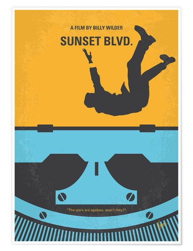 Premium poster No813 My Sunset Blvd minimal movie poster