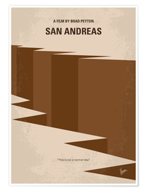 Premium poster No810 My San Andreas minimal movie poster