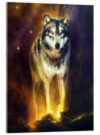 Acrylic print  Cosmic Wolf - Kidz Collection