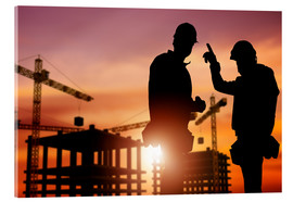 Acrylic print  Meeting at the construction site