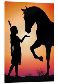 Acrylic print  Horse whisperer - Kidz Collection