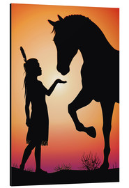 Aluminium print  Horse whisperer - Kidz Collection