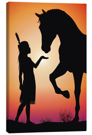 Canvas print  Horse whisperer - Kidz Collection