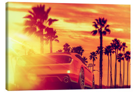 Canvas print  Malibu Beach