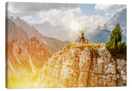 Canvas print  Extreme Bike Trail Mission