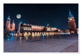 Premium poster  World Famous Cracow Main Square