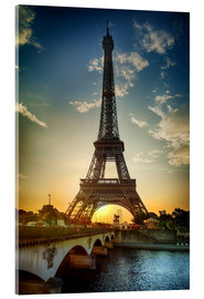 Acrylic print  Eiffel Tower and Pont d'Iena on the Seine in Paris