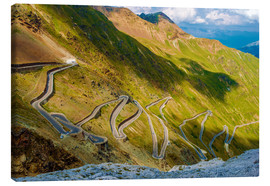 Canvas print  Stelvio Pass - Italian Mountain Pass Road Landscape